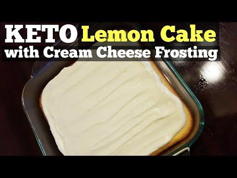 KETO Lemon Cake with Cream Cheese Frosting  | Emily on Keto