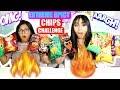 EXTREME SPICY CHIPS CHALLENGE Takis Doritos Cheetos Lays