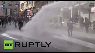 Turkey: See tear gas, water cannon unleashed on Kobane protesters