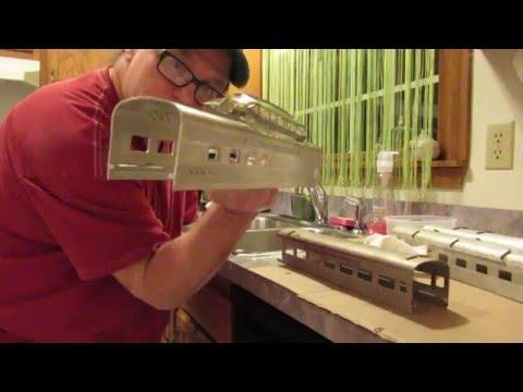 How To Restore Lionel:MTH Postwar Aluminum Passenger Cars STEP#2:Wash Away The Past!!