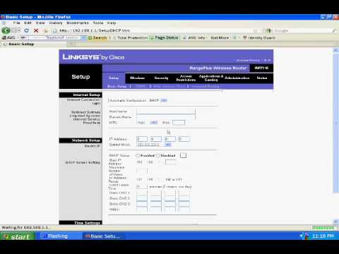 How to Edit Your Wireless Router Settings(Linksys)