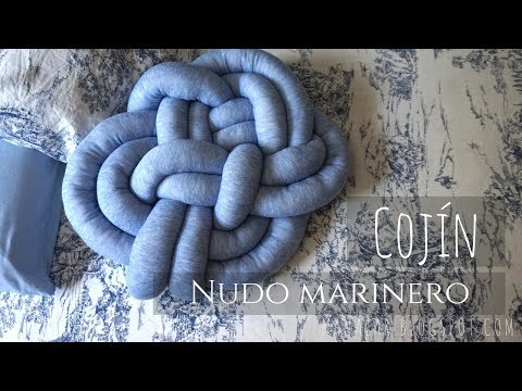 Cojín nudo marinero (Knot pillow Sailor/Celtic)