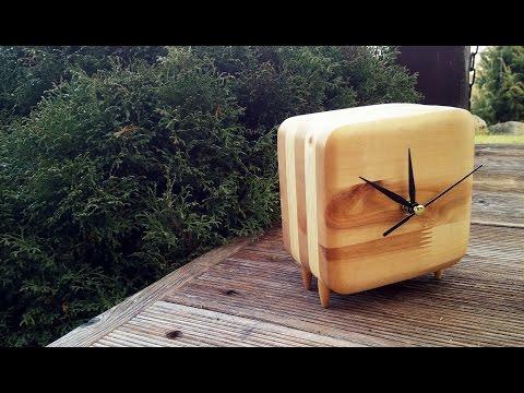 Making smooth wooden desk clock