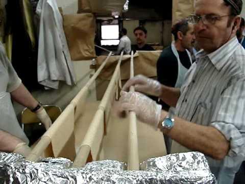 Matzah Bakery Visit (-complete version) Handmade, Shmurah, Chabad, in Crown Heights 2009.