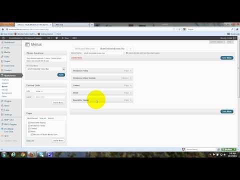 Create Custom Menu for Horizontal Menu Bar in Wordpress Twenty Twelve - Tutorial