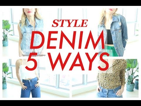 5 WAYS TO STYLE DENIM | TRACY CAMPOLI | SHOPPING IN YOUR CLOSET