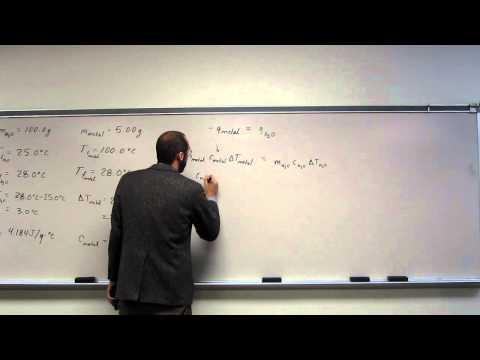 Coffee Cup Calorimetry - Specific Heat Capacity of Metal 001