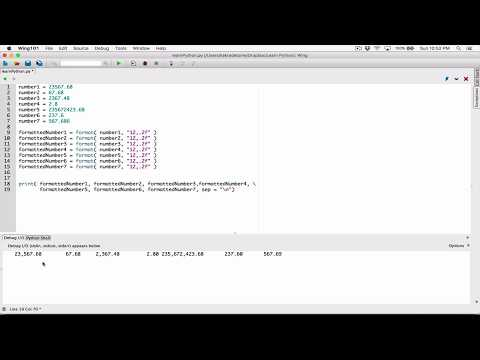 41. Formatting using minimum field width - Learn Python