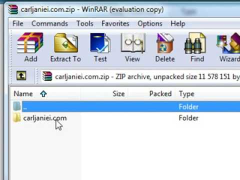 Extract zip archive Files with WinRar