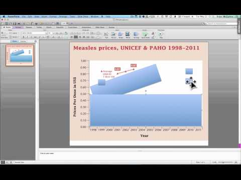 Prepare a graph in PDF with voiceover