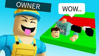 The Owner TROLLED ME in his own Roblox Obby..