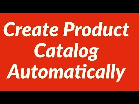 Create Product Catalog Automatically