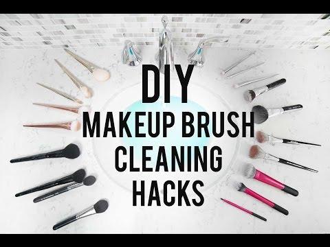 DIY Makeup Brush Cleaning Hacks | ANN LE