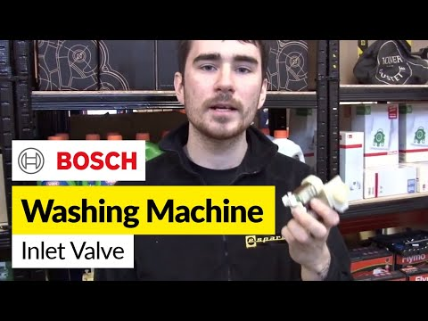 How to replace the water inlet valve on a Bosch washing machine