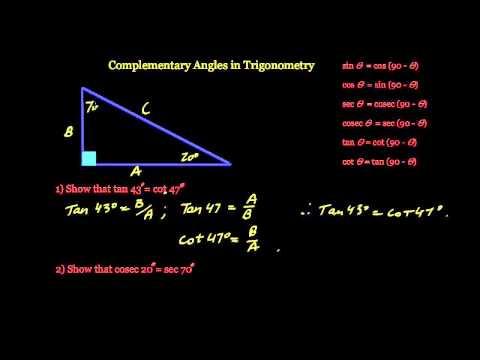 Complementary Angles & Trigonometry