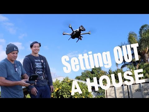 Setting Out a House and Crashing a Drone!