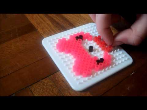 How to Make a Gloomy Bear Hama/Perler bead Necklace