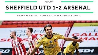Sheffield United 1 v 2 Arsenal    Ceballos 90+ sends Arsenal into FA Cup semi-finals