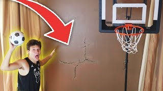 HOUSE MINI BASKETBALL GONE WRONG.. **BROKEN WALL**