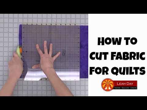 How to Cut Fabric for Quilting - Make a Baby Quilt with Leah Day