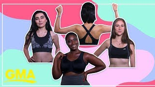 How to find the right sports bra for your body: Top picks for A to D+ | GMA Digital