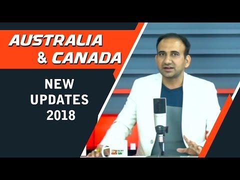 Australia and Canada Visa New Updates 2018