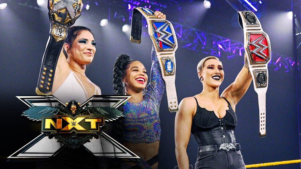 Rhea Ripley, Bianca Belair surprise Gonzalez with a champions' salute: WWE NXT, April 13, 2021