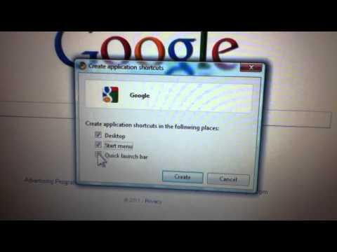 How to create an icon on your desktop with Google Chrome