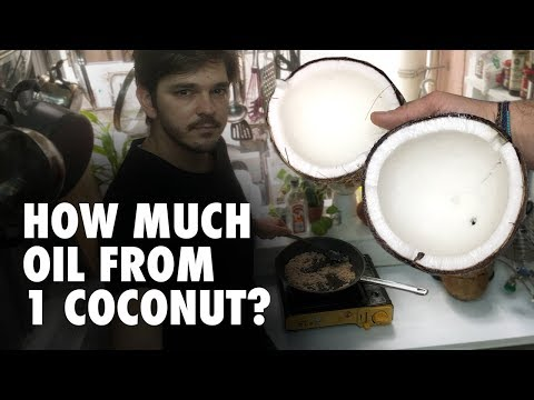 How to make coconut oil at home (easy) - How much oil from 1 coconut?