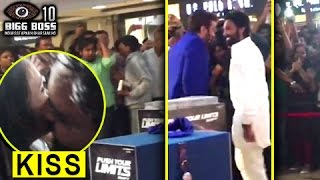Manveer KISSES A GIRL In Public | Manu & Manveer Greet Fans At A Mall | Bigg Boss 10