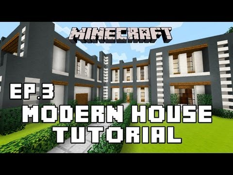 Minecraft Tutorial:  How To Build A Modern House  Ep.3  (Awesome Staircase Design)