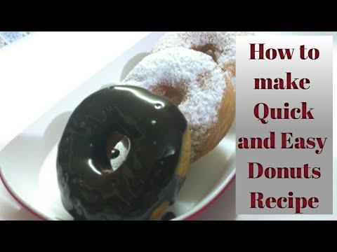 Homemade chocolate Donuts Recipe | How to make chocolate Donuts | Chocolate glazed donuts | Donuts