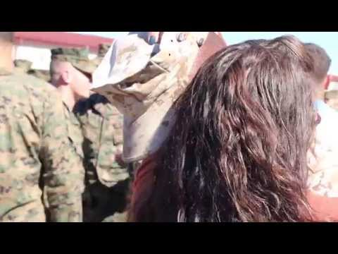 The Surprise - Wife surprises Marine husband during his return from year-long deployment