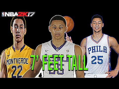 BEN SIMMONS IS 7 FEET TALL😱!! WILL TAKE OVER NBA!! NBA 2K17 GAMEPLAY!