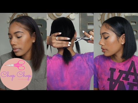 Chop Chop!  Hair Transformation - Vibrating Flat Iron