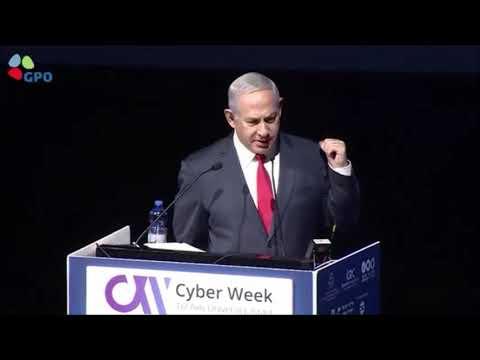 """הדמיית מתקפת סייבר במהלך נאום רה""""מ נתניהו בכנס CyberWeek"""