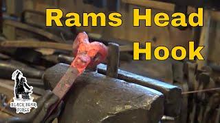 Download Rams head hook - Blacksmithing for beginners Video