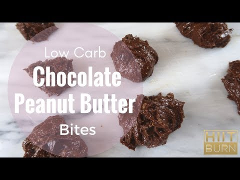 Low Carb Chocolate Peanut Butter Energy Bites | HIITBURN Carb Cycling Recipes