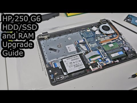 HP 250 G6 HDD/SSD and RAM Upgrade Guide