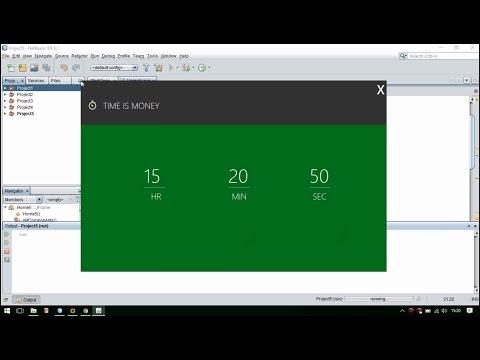 Java Netbeans Material UI  - Digital Clock With Dragable Header
