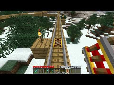 Minecraft Tutorials - 33 - How to Survive & Thrive (Powered Rail/Booster Rail)