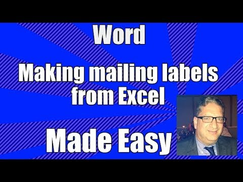 word making mailing labels from excel tutorial for beginners