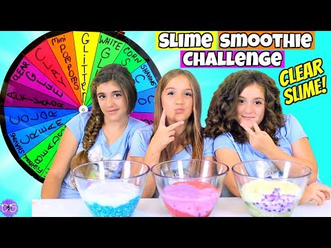 MYSTERY WHEEL OF SLIME PART 3 * CLEAR SLIME SMOOTHIE CHALLENGE!