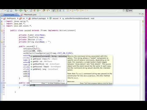 Java GUI Lesson 4 | JButton and ActionListener