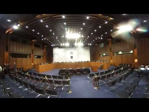 360 view inside Comey's hearing room