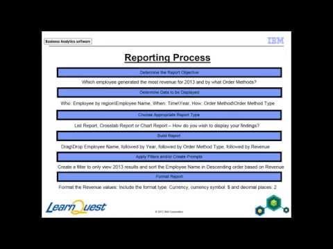 IBM Cognos Report Studio: Author Professional Reports Fundamentals