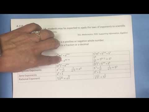 A.11B Laws of Exponents