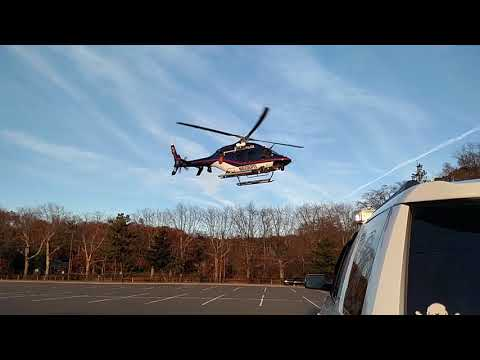 Nassau County Police Air 6 MEDIVAC mission Helicopter Action