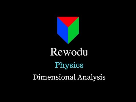 Dimensional Analysis (11.2.5), Units and Measurements, Class 11 Physics video in Hindi