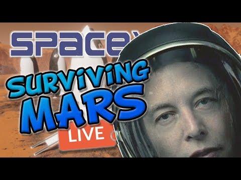 SURVIVING MARS! Massive Base! SpaceY Livestream!